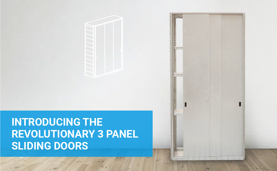 Introducing the revolutionary 3 panel sliding doors